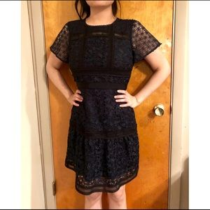 Ann Taylor Lace Midi Dress